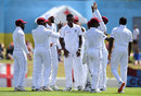 Alzarri Joseph claimed the wicket of Moeen Ali, West Indies v England, 3rd Test, St Lucia, 2nd day, February 10, 2019