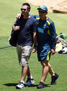 Ricky Ponting with Justin Langer in Perth