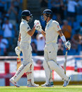 Joe Root congratulates Joe Denly on his maiden fifty, West Indies v England, 3rd Test, St Lucia, 3rd day, February 11, 2019