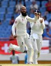 Moeen Ali wheels away in celebration, West Indies v England, 3rd Test, St Lucia, 4th day, February 12, 2019