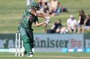 Mohammad Saifuddin hits through the off side, New Zealand v Bangladesh, 1st ODI, Napier