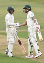 Quinton de Kock and Dale Steyn fist-bump each other, South Africa v Sri Lanka, 1st Test, Durban, 1st day, February 13, 2019