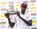 Jason Holder poses with the Wisden Trophy, West Indies v England, 3rd Test, St Lucia, 4th day, February 12, 2019