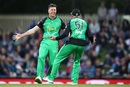 Daniel Worrall struck twice in the second over, Hobart Hurricanes v Melbourne Stars, BBL 2018-19, Hobart, February 14, 2019