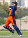 Stephan Myburgh cuts high over point, Netherlands v Scotland, Oman Quadrangular T20I Series, Al Amerat, February 13, 2019