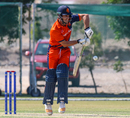 Ryan ten Doeschate gets on his toes to clip through the leg side, Netherlands v Scotland, Oman Quadrangular T20I Series, Al Amerat, February 13, 2019
