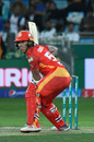 Luke Ronchi shapes to play the ball, Islamabad United v Lahore Qalandars, Pakistan Super League 2019, Dubai, February 14, 2019