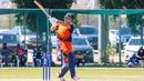 Ben Cooper crunches a pull over midwicket, Oman v Netherlands, Oman Quadrangular T20I Series, Al Amerat, February 15, 2019