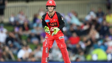 Melbourne Renegades wicketkeeper Sam Harper in action