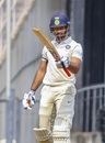 Hanuma Vihari raises his bat after reaching a century, Vidarbha v Rest of India, Irani Cup 2018-19, 4th day, Nagpur, February 15, 2019