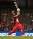Cameron White muscles one over the boundary, Melbourne Renegades v Sydney Sixers, BBL 2019, semi-final, Melbourne, February 15, 2019