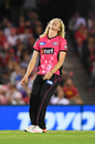 Mickey Edwards sports a look of anguish, Melbourne Renegades v Sydney Sixers, BBL 2019, 2nd semi-final, Melbourne, February 15, 2019