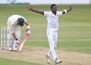 Vishwa Fernando traps Faf du Plessis lbw, South Africa v Sri Lanka, 1st Test, Durban, 3rd day, February 15, 2019