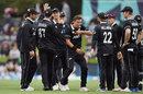 Trent Boult is animated after after picking up a wicket, New Zealand v Bangladesh, 2nd ODI, Christchurch, February 16, 2019