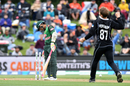 Lockie Ferguson is thrilled after Mushfiqur Rahim chopped on again, New Zealand v Bangladesh, 2nd ODI, Christchurch, February 16, 2019