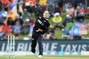 Todd Astle in his delivery stride, New Zealand v Bangladesh, 2nd ODI, Christchurch, February 16, 2019