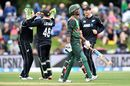 Mahmudullah walks back after edging behind, New Zealand v Bangladesh, 2nd ODI, Christchurch, February 16, 2019
