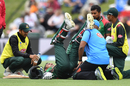 Mohammad Mithun gets some treatment from the physio, New Zealand v Bangladesh, 2nd ODI, Christchurch, February 16, 2019