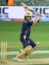 Shane Watson holds his shape after punching the ball, Peshawar Zalmi v Quetta Gladiators, PSL 2019, Dubai, February 15, 2019