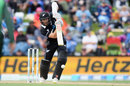 Kane Williamson offers the full face on a drive, New Zealand v Bangladesh, 2nd ODI, Christchurch, February 16, 2019