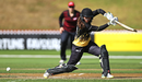 Amelia Kerr brings out the drive, Canterbury Magicians v Wellington Blaze, New Zealand Cricket Women's One-Day Competition, Wellington, February 16, 2019
