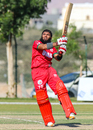 Khurram Nawaz rocks back to swivel a pull over midwicket for six, Oman v Netherlands, Oman Quadrangular T20I Series, Al Amerat, February 15, 2019