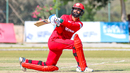 Jatinder Singh connects with a reverse sweep for a boundary, Oman v Netherlands, Oman Quadrangular T20I Series, Al Amerat, February 15, 2019