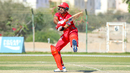 Naseem Khushi completes an unorthodox swat over long-on for six, Oman v Netherlands, Oman Quadrangular T20I Series, Al Amerat, February 15, 2019