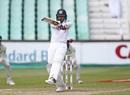 Dhananjaya de Silva plays a pull, South Africa v Sri Lanka, 1st Test, Durban, 4th day, February 16, 2019