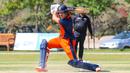 Ben Cooper drives square through the off side, Oman v Netherlands, Oman Quadrangular T20I Series, Al Amerat, February 15, 2019