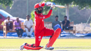 Jatinder Singh drives through extra cover for a boundary, Oman v Ireland, Oman Quadrangular T20I Series, Al Amerat, February 13, 2019