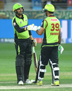 Sohail Akhtar put on a strong partnership with Fakhar Zaman, Karachi Kings v Lahore Qalandars, PSL 2019, Dubai, February 16, 2019