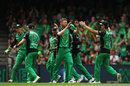 Melbourne Stars celebrate after Jackson Bird's wicket, Melbourne Renegades v Melbourne Stars, Final, BBL 2018-19, Melbourne, 17 February, 2019