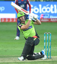 AB de Villiers goes down on a knee, Karachi Kings v Lahore Qalandars, PSL 2019, Dubai, February 16, 2019