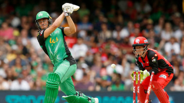 Marcus Stoinis was bowled by Cameron Boyce