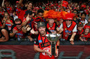 Dan Christian poses with the trophy, Melbourne Renegades v Melbourne Stars, Final, BBL 2018-19, Melbourne, 17 February, 2019