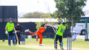 Stuart Poynter hits Paul van Meekeren over the leg side for a last-ball six to win it, Ireland v Netherlands, Oman Quadrangular T20I Series, Al Amerat, February 17, 2019