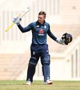 Jason Roy acknowledges his hundred, UWI Vice Chancellor's XI v England, Tour match, Barbados, February 17, 2019
