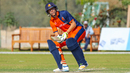 Tobias Visee goes for a scoop over fine leg, Ireland v Netherlands, Oman Quadrangular T20I Series, Al Amerat, February 17, 2019