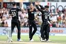 Tim Southee celebrates a wicket, New Zealand v Bangladesh, 3rd ODI, Dunedin, February 20, 2019