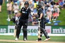 Ross Taylor and Tom Latham bring up a fifty-run stand, New Zealand v Bangladesh, 3rd ODI, Dunedin, February 20, 2019
