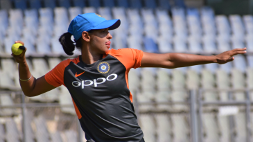 Harmanpreet Kaur during a fielding drill