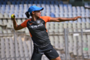 Harmanpreet Kaur during a fielding drill