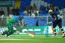 Sarfaraz Ahmed takes off the bails to try and complete a run-out, Multan Sultans v Quetta Gladiators, PSL 2019, Sharjah, 20 February, 2019
