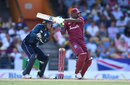Darren Bravo pulls through the leg side, West Indies v England, 1st ODI, Barbados, February 20, 2019