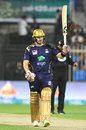 Shane Watson raises his bat after getting his fifty, Multan Sultans v Quetta Gladiators, PSL 2019, Sharjah, 20 February, 2019