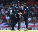 Adil Rashid claimed late wickets, West Indies v England, 1st ODI, Barbados, February 20, 2019