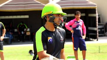 Salman Butt at his first training session with Lahore Qalandars
