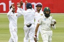 Hashim Amla is dismissed by Dhananjaya de Silva, South Africa v Sri Lanka, 2nd Test, Port Elizabeth, 2nd day, February 22, 2019
