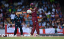 John Campbell pulls through the leg side, West Indies v England, 2nd ODI, Barbados, February 22, 2019